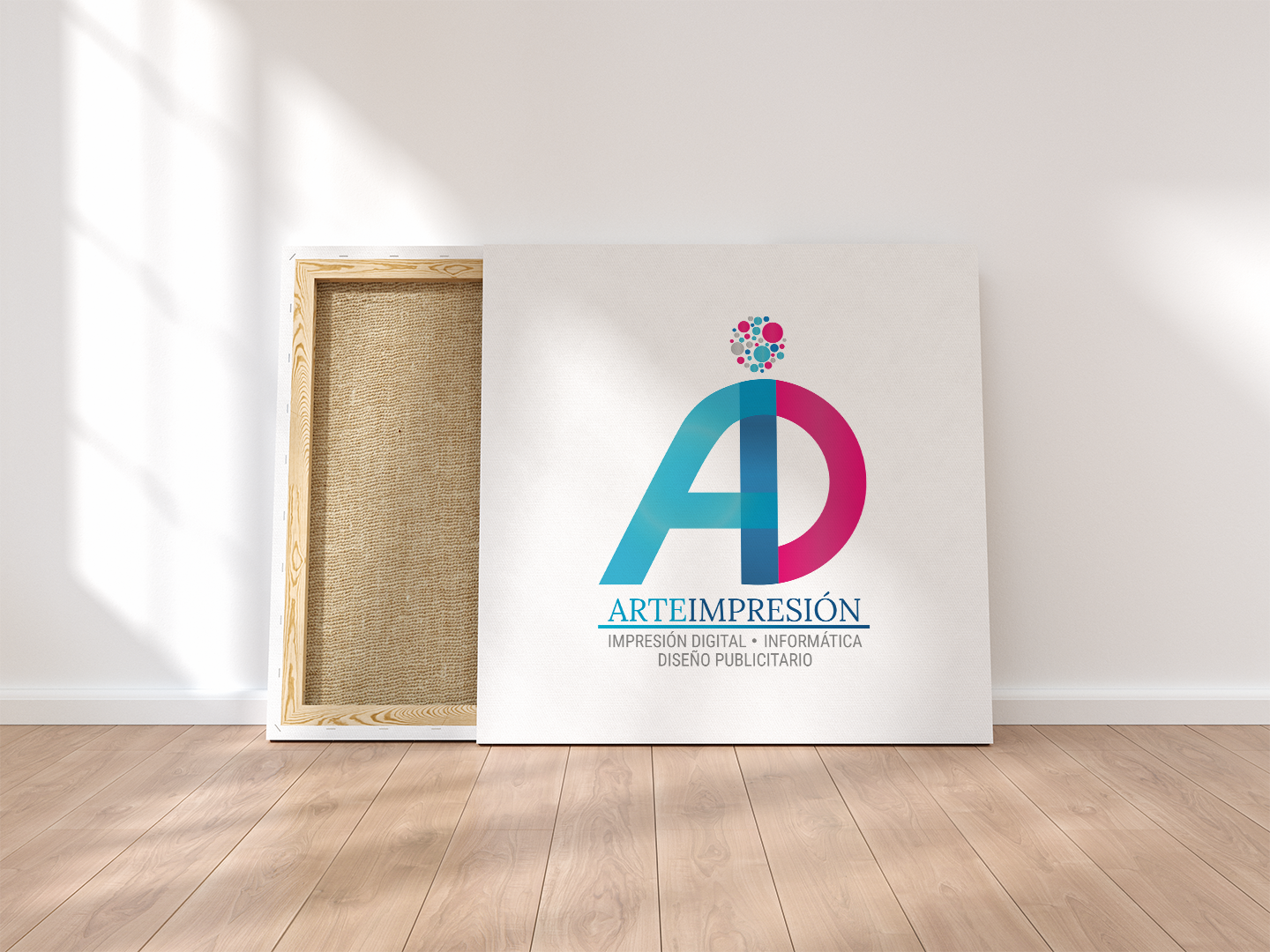 Logo Arteimpresión en Canvas